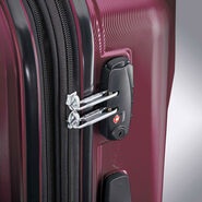 "Samsonite Pivot 25"" Spinner in the color Merlot."