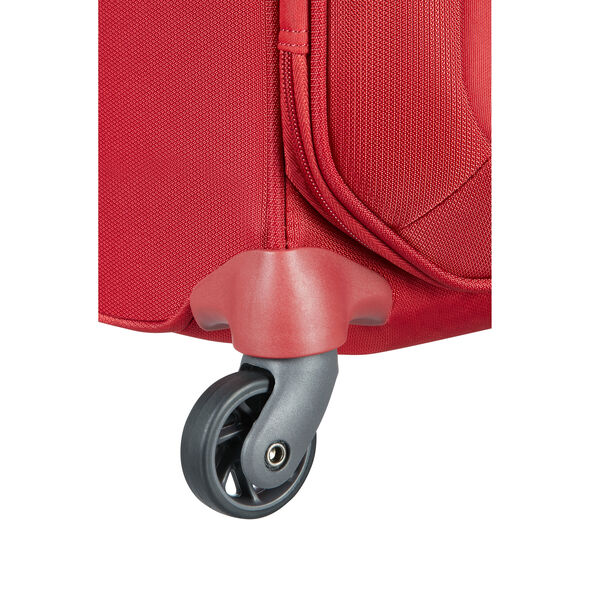 "Samsonite Uplite 20"" Spinner in the color Red."