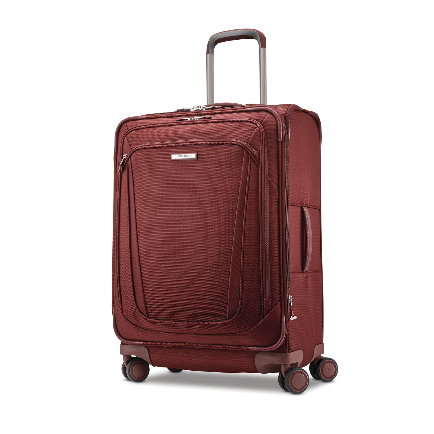 """Samsonite Silhouette 16 Expandable 25""""  Spinner in the color Cabernet Red."""