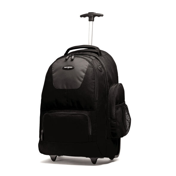 Samsonite Wheeled Computer Backpack In The Color Charcoal Black