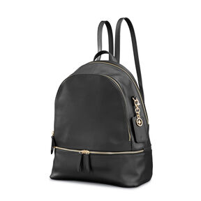 Samsonite Ladies Leather City Backpack in the color Black.