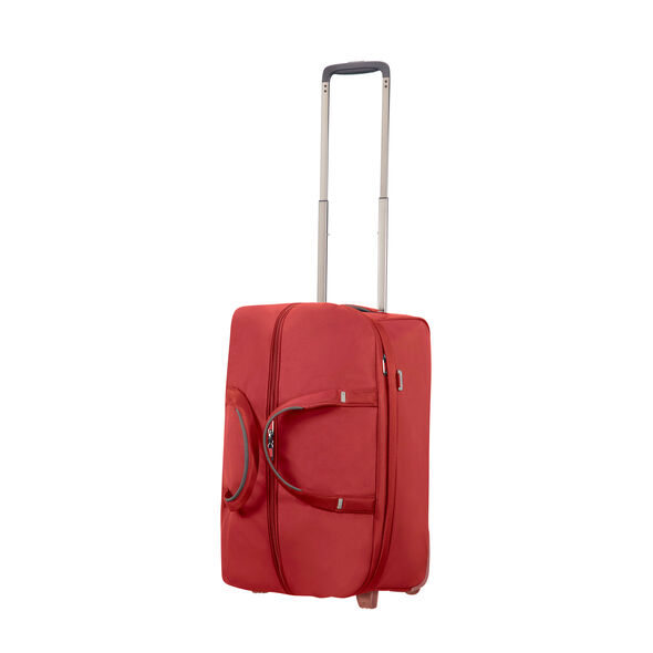 "Samsonite Uplite 20"" Wheeled Duffle in the color Red."