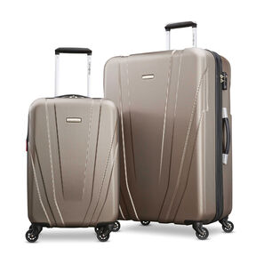 Samsonite Valor 2 Piece Set in the color Metallic Sand.