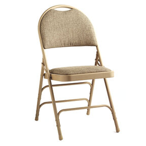 Samsonite Steel & Fabric Folding Chair with Memory Foam  (Case/4) in the color Neutral/Beige.