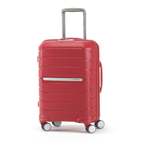 "Samsonite Freeform 21"" Spinner in the color Red."