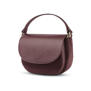 Encompass Womens Convertible Secure Saddle Bag in the color Bordeaux.