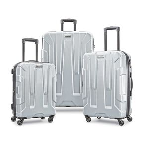 Samsonite Centric 3 Piece Set in the color Silver.