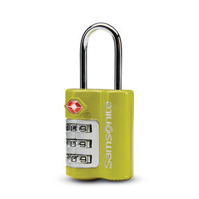 Samsonite 3 Dial Combination Lock in the color Vivid Green.