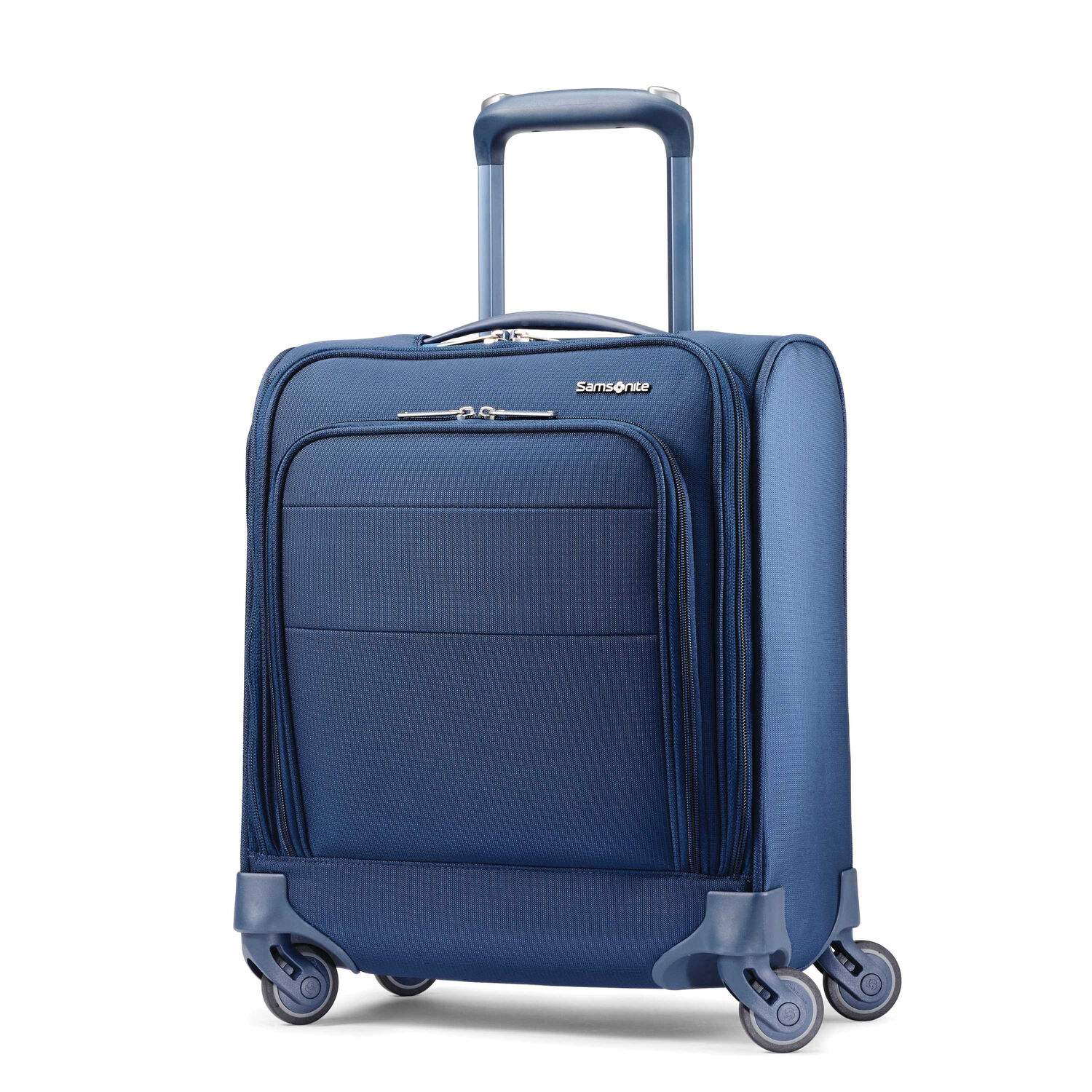 Samsonite Flexis Underseater Carry-On Spinner in the color Carbon Blue.
