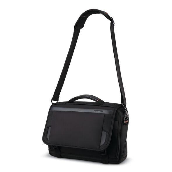 "Samsonite Pro 13"" Slim Messenger in the color Black."