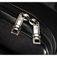 Samsonite Colombian Leather Flapover Briefcase in the color Black.