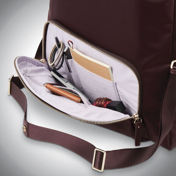 Samsonite Encompass Womens Convertible Tote Backpack in the color Bordeaux.