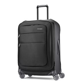 "Samsonite Flexis 25"" Spinner in the color Jet Black."