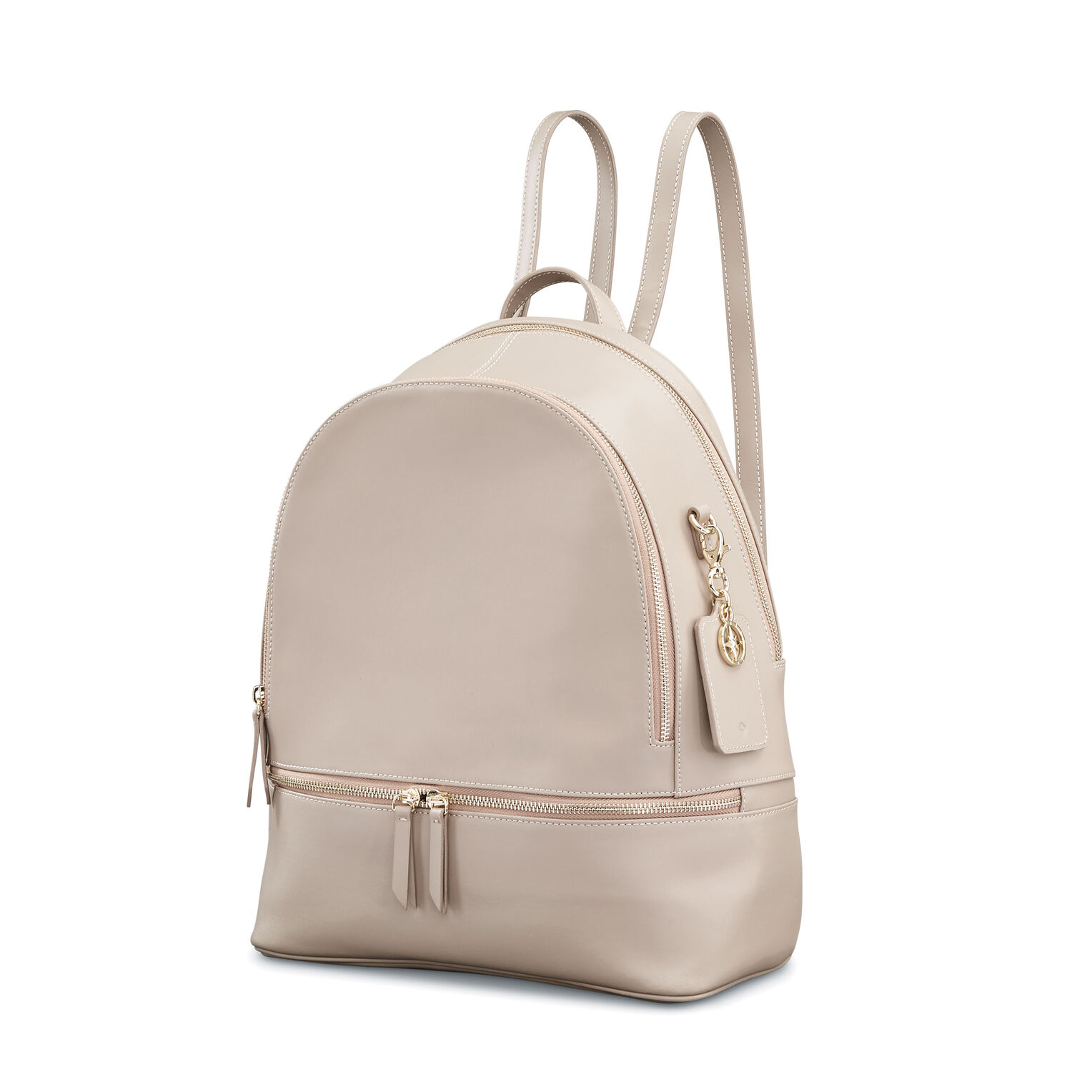 Samsonite Ladies Leather City Backpack in the color Light Grey.