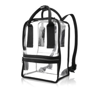 Go Clear Convertible Tote Backpack in the color Clear.