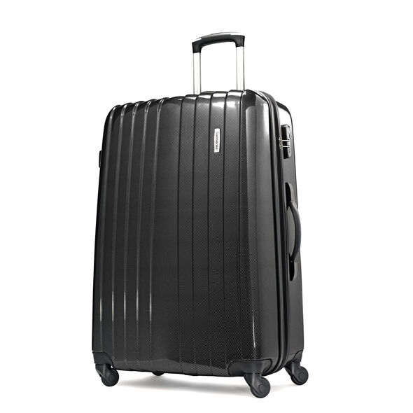 "Samsonite Carbon1 DLX 28"" Expandable Spinner in the color Silver."