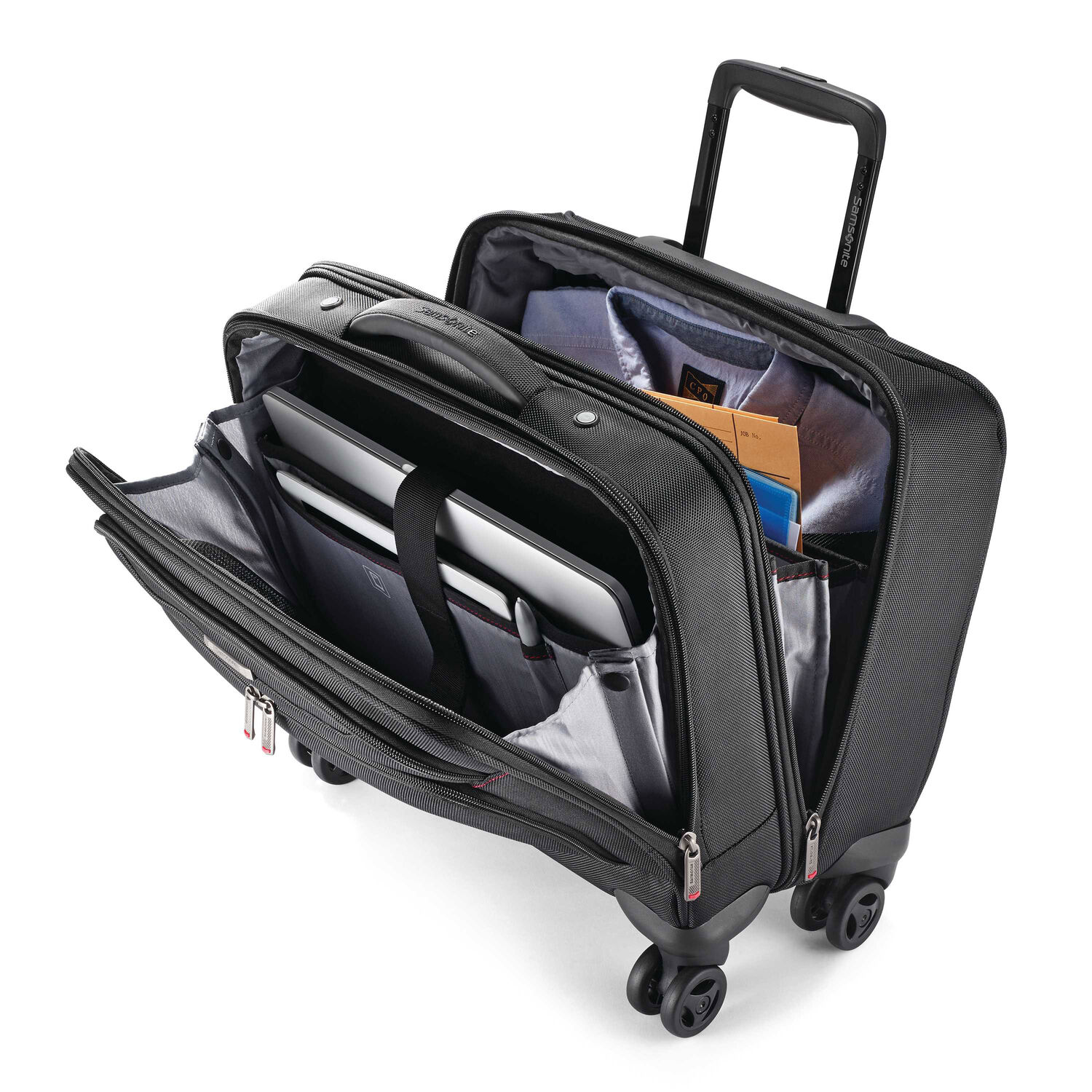 Samsonite Xenon 3 0 Spinner Mobile Office In The Color Black