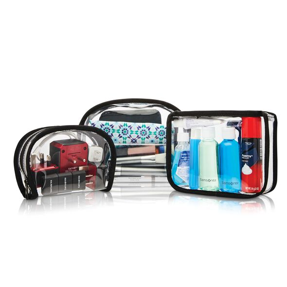 Samsonite Go Clear 3PC Accessory Pack in the color Clear.