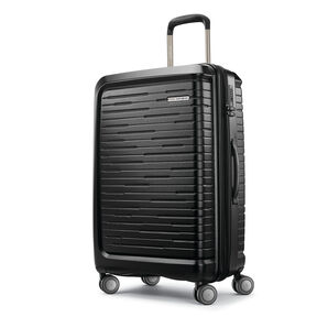 "Samsonite Silhouette 16 25"" Hardside Spinner in the color Obsidian Black."