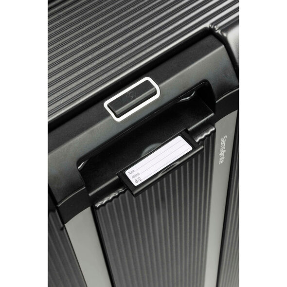"Samsonite Arq 25"" Spinner in the color Matte Graphite."