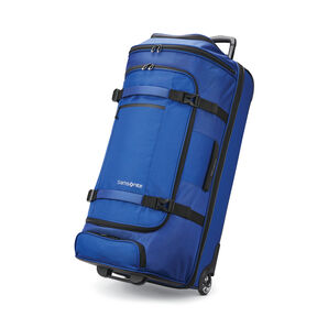 "Samsonite Detour 34"" Wheeled Duffel in the color Cobalt Blue."