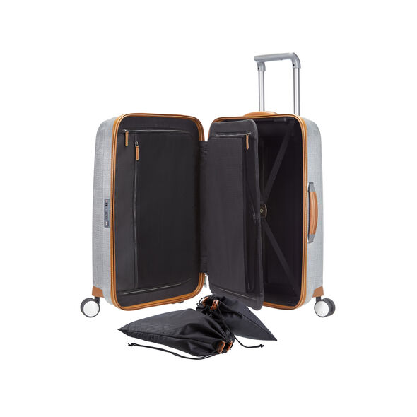 "Samsonite Black Label Lite-Cube DLX 28"" Spinner in the color Aluminum."