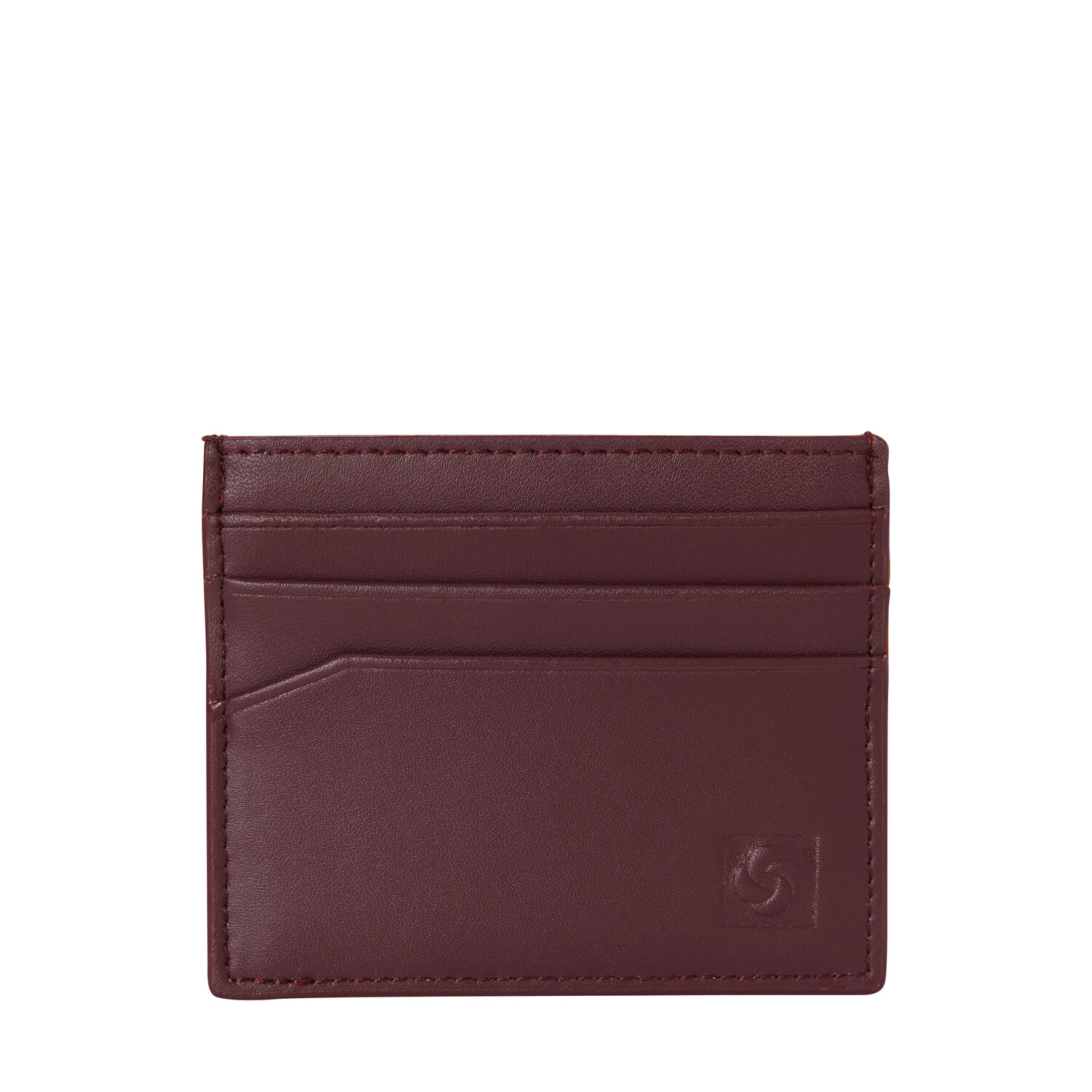 e961f22028534d Samsonite Leather Card Case in the color Sangria. Loading zoom