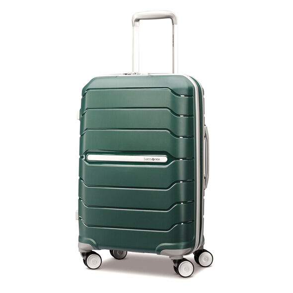 "Samsonite Freeform 21"" Spinner in the color Sage Green."