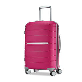 "Samsonite Freeform 21"" Spinner in the color Dark Pink."
