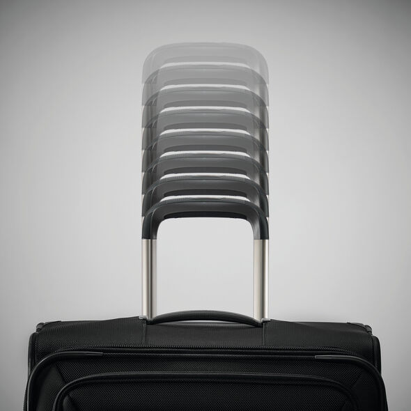 Samsonite Silhouette 16 Expandable Carry-On Spinner in the color Obsidian Black.