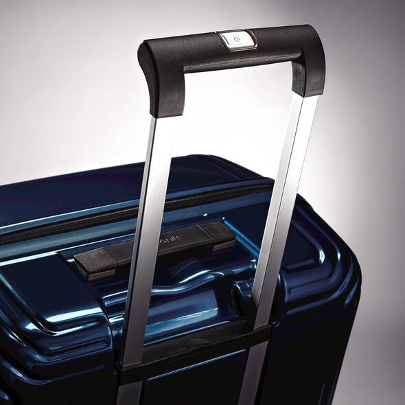 "Samsonite NeoPulse 20"" Spinner in the color Metallic Blue."