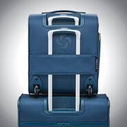 Samsonite SoLyte DLX Underseat Wheeled Carry-On in the color Mediterranean Blue.