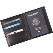 Samsonite Leather Passport Case in the color Black.