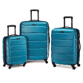Samsonite Omni PC Spinner Set in the color Carribean Blue.