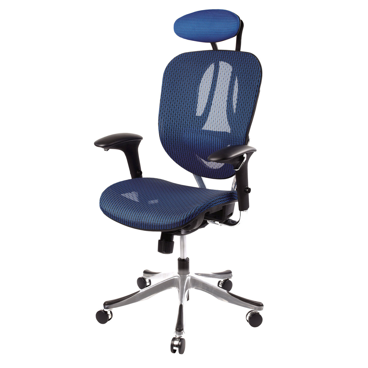 Samsonite zurich mesh office chair for Blue office chair