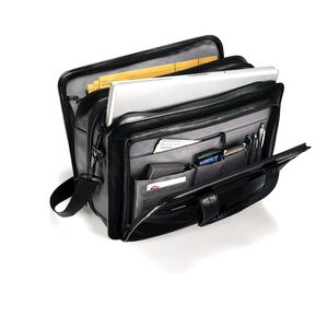 Leather Expandable Business Case in the color Black.