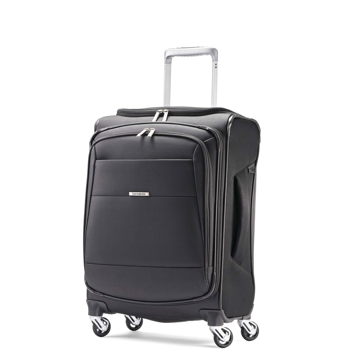 "Samsonite Eco-Nu 19"" Expandable Spinner in the color Granite/Midnight Black."