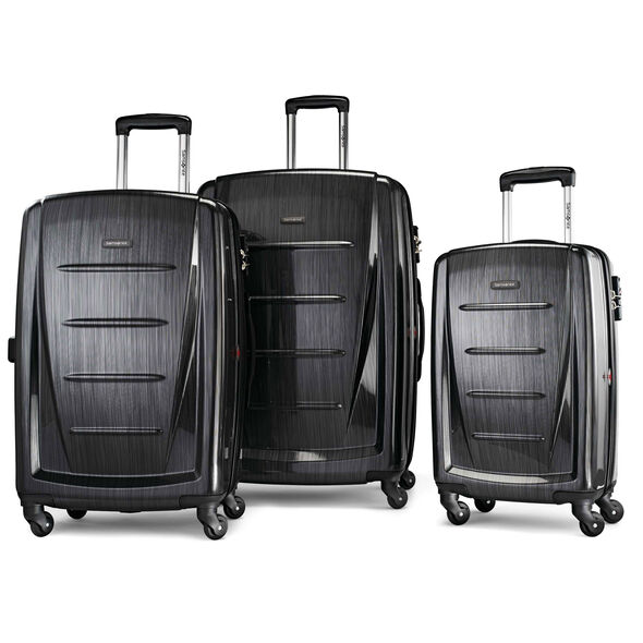 Samsonite Winfield 2 Fashion 3 Piece Spinner Set in the color Brushed Anthracite.
