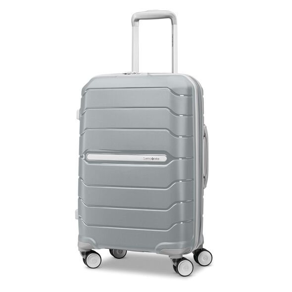 "Samsonite Freeform 21"" Spinner in the color Silver."