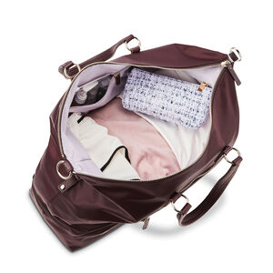 Encompass Womens Convertible Weekend Duffel in the color Bordeaux.
