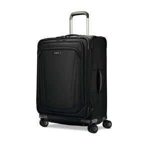 "Samsonite Silhouette 16 25"" Expandable Spinner in the color Obsidian Black."