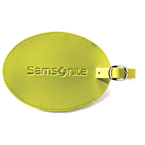 Samsonite Samsonite Large Vinyl ID Tag in the color Neon Green.