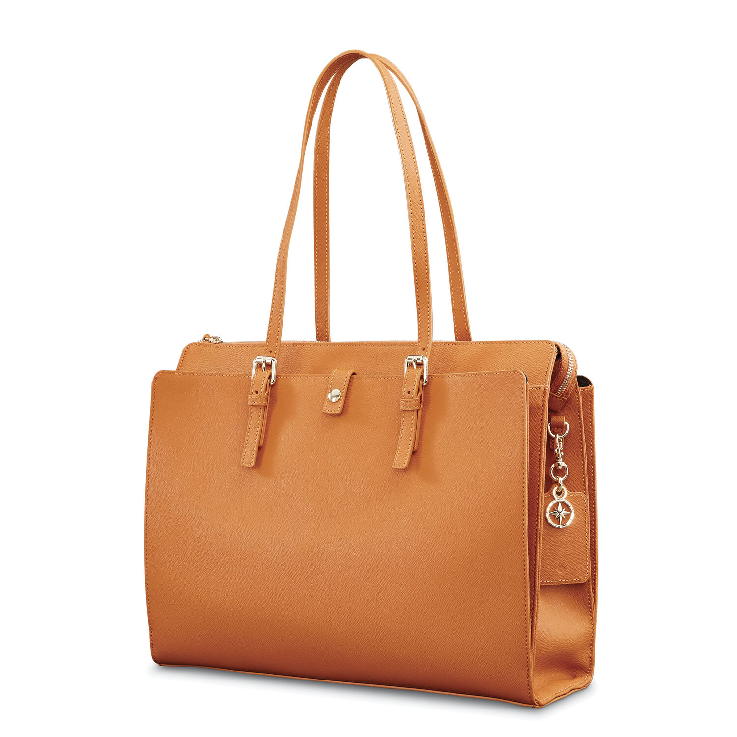 Samsonite Las Leather N S Tote In The Color Cognac