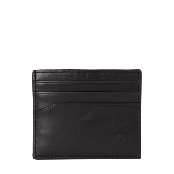 Samsonite Leather Card Case in the color Black.