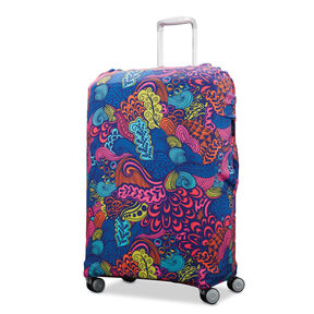 Printed Luggage Cover - M in the color Acid Nature Print.