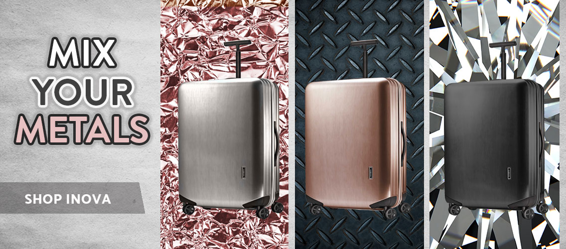 Mix your Metals with new colors of Samsonite popular Inova collection. Shop Now.