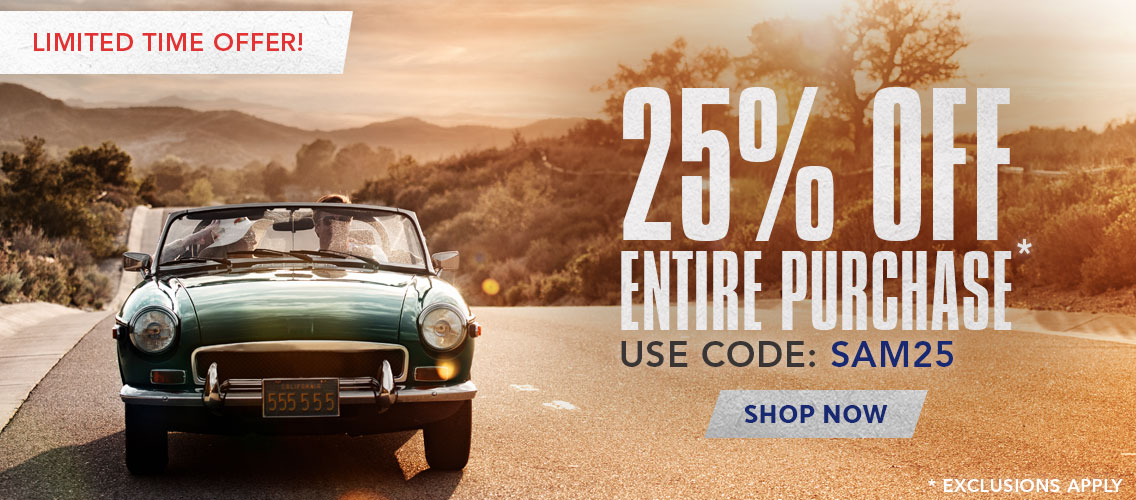 For a Limited Time -  Save 25% off you entire order, Use code: SAVE25. Shop Now.