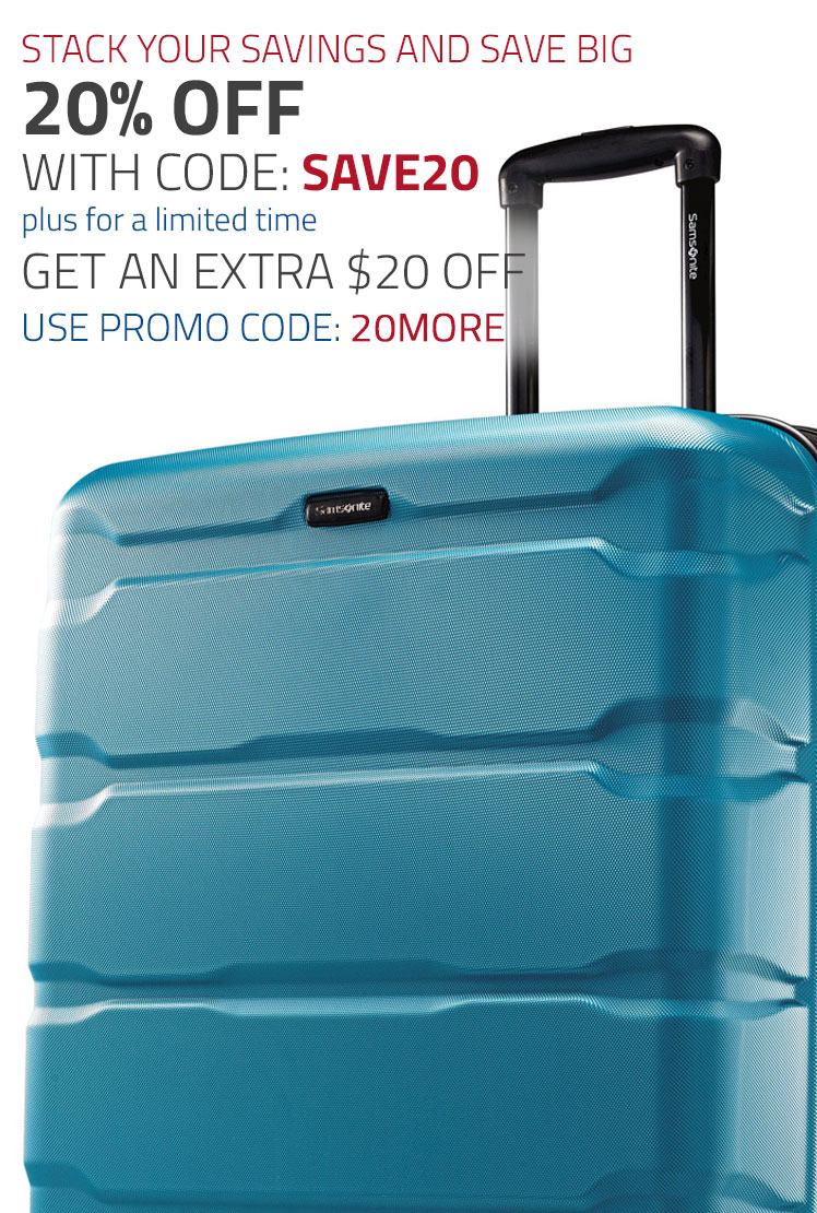 For a limited time only - 20% off Select Collections plus and additional $20 Off