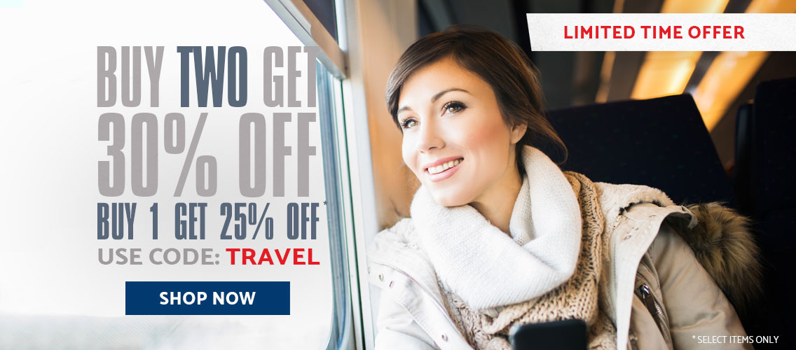 Buy 2 or More and Get 30% off, Use Promo Code: TRAVEL. Shop Now.