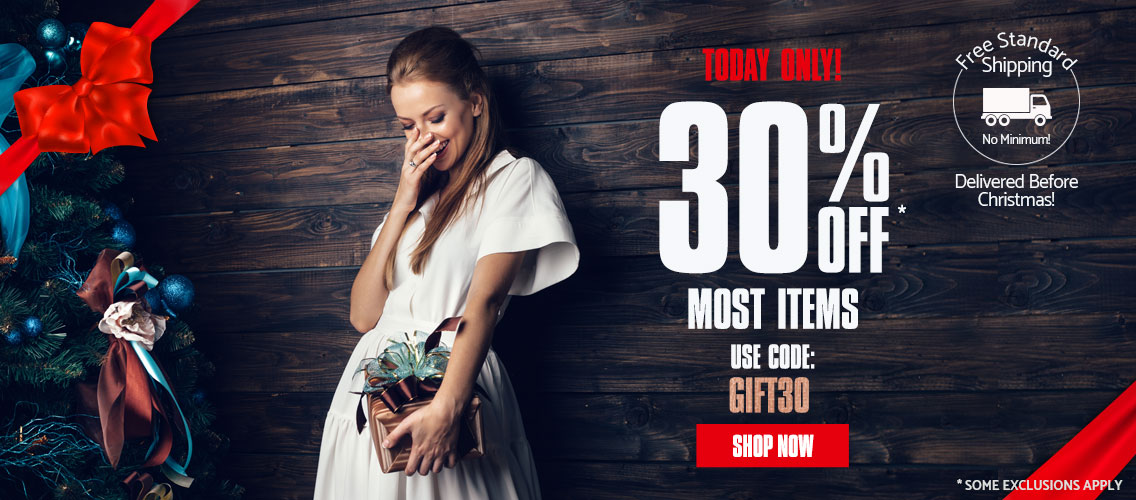 Limited Time Offer - Get 30% off Most Items and Free Shipping. Use Code: GIFT30. Shop Now.